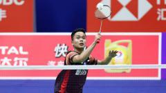 Indosport - Anthony Sinisuka Ginting kalah wakil Thailand di Indonesia Open 2019.