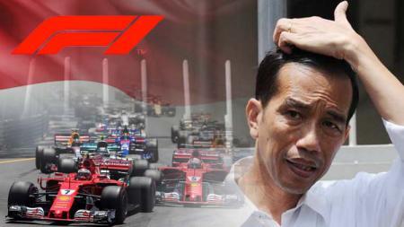 Presiden petahan, Jokowi masukan agenda bakal tuan rumah Formula 1 di Indonesia. - INDOSPORT
