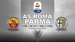 Indosport - Pertandingan AS Roma vs Parma. Grafis: Yanto/Indosport.com