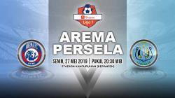 Pertandingan Arema FC vs Persela Lamongan. Grafis: Yanto/Indosport.com