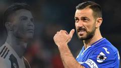 Indosport - Fabio Quagliarella, striker uzur yang pecundangi Cristiano Ronaldo di Italia.