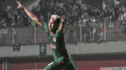 Kushedya Yudo saat melakukan selebrasi usai mencetak gol untuk PSS Sleman di Piala Presiden 2019. (Foto: PSS Sleman)
