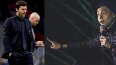 Indosport - Pelatih Tottenham Hotspur, Mauricio Pochettino dan Ernest Prakasa, komika Indonesia.