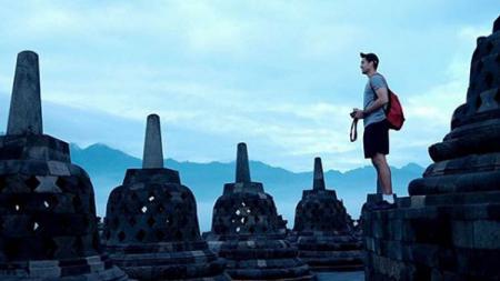 Christian Ronaldo Sitepu saat berada di Candi Borobudur.jpg - INDOSPORT