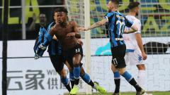 Indosport - Keita Balde melakukan selebrasi usai membobol gawang Empoli.