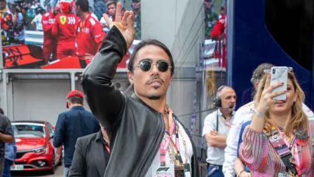 Koki kebangsaan Turki, Salt Bae nonton langsung balapan Formula 1 di Sirkuit Monaco. Marc Piasecki / WireImage