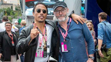Chef Salt Bae (Nusret Gokce) dan aktor Liam Cunningham nonton balapan Formula 1 di GP Monaco. Marc Piasecki / WireImage