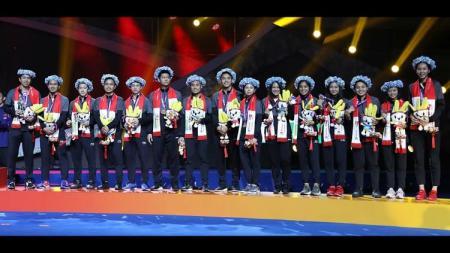 Para pemain Indonesia di akhir turnamen Piala Sudirman 2019. - INDOSPORT