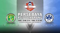 Indosport - Pertandingan Persebaya Surabaya vs PSIS Semarang. Grafis: Yanto/Indosport.com