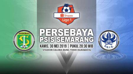Pertandingan Persebaya Surabaya vs PSIS Semarang. Grafis: Yanto/Indosport.com - INDOSPORT