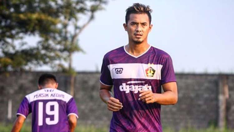 Striker Persik Kediri Bijajil Chalwa sedang berlatih Copyright: Instagram/@persikfcofficial