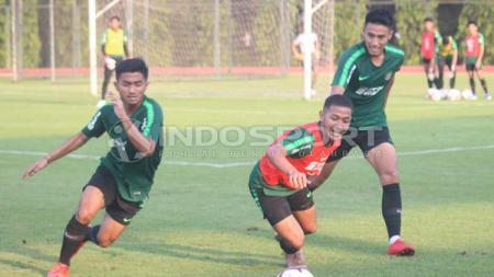Timnas Indonesia U-23 berhasil unggul 1-0 atas Filipina dalam laga perebutan juara tiga Merlion Cup 2019. - INDOSPORT