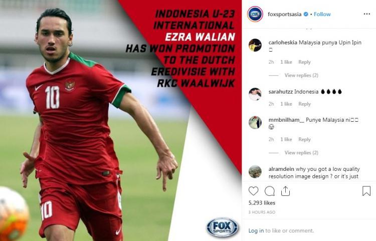 Netizen klaim Ezra Walian milik Malaysia Copyright: Instagram/@foxsportsasia
