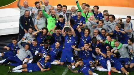 Chelsea juara Liga Europa musim 2018/19 usai menundukkan Arsenal di final dengna skor 4-1. - INDOSPORT