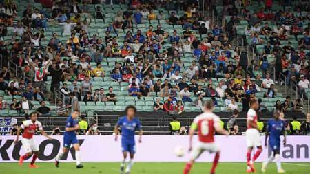 Laga final Liga Europa 2018/19 antara Arsenal kontra Chelsea tampak sepi penonton. Michael Regan/Getty Images - INDOSPORT