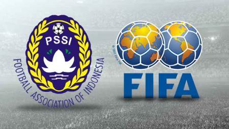 Logo PSSI dan FIFA - INDOSPORT
