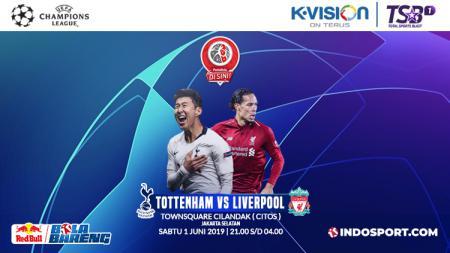 Acara Final Liga Champions 2018/19 antara Tottenham Hotspur vs Liverpool bertajuk Bola Bareng yang diselenggarakan INDOSPORT. - INDOSPORT