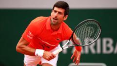 Indosport - Novak Djokovic di hari kelima Prancis Terbuka 2019 melawan Henri Laaksonen.