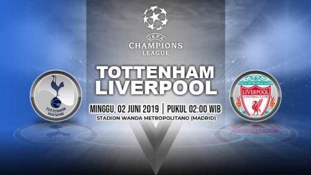 Pertandingan Tottenham Hotspur vs Liverpool. Grafis: Yanto/Indosport.com - INDOSPORT