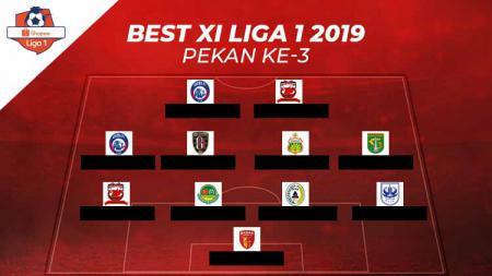 Starting terbaik Liga 1 2019 pekan ke-3. - INDOSPORT