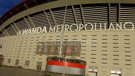 Stadion Wanda Metropolitano yang akan menghelat partai final Liga Champions 2018-19. - INDOSPORT