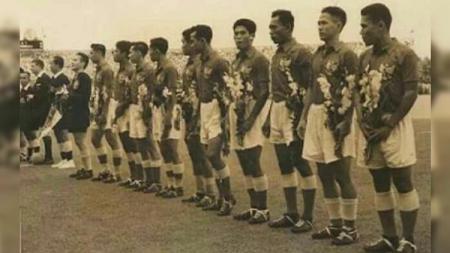 Timnas Indonesia yang berlaga di Asian Games 1958 Tokyo. - INDOSPORT