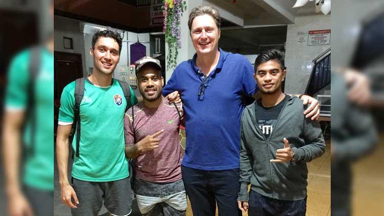 Kevin Scheunemann (kiri), Pieter Mandibodibo (kiri nomor dua), dan Timo Scheunemann (kanan nomor dua). Copyright: Instagram/@timo_scheunemann