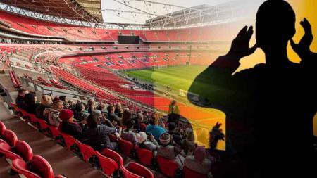 Ilustrasi orang azan di stadion Wembley - INDOSPORT