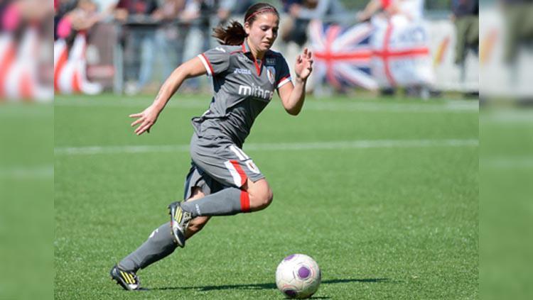 Pemain sepak bola wanita berdarah Indonesia Vanity Lewerissa. Copyright: Sportpix.be/David Catry/nieuws.vrouwenvoetbal.be