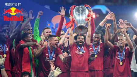 Tim Liverpool melakukan selebrasi juara Liga Champions. Michael Regan/Getty Images - INDOSPORT