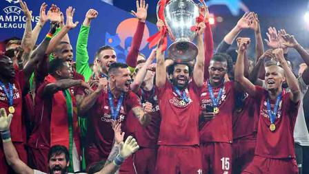 Potret keberhasilan Liverpool juara Liga Champions usai menaklukan Tottenham dengan skor 2-0 tanpa balas. Michael Regan/Getty Images