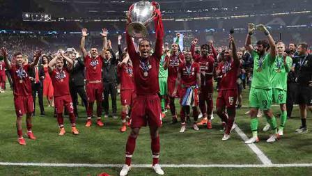 Liverpool juara Liga Champions Virgil van Dijk dinobatkan sebagai pemain terbaik. Burak Akbulut/Anadolu Agency/Getty Images