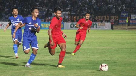 Pertandingan uji coba PSIM Yogyakarta vs Timnas Indonesia U-23 di Stadion Sultan Agung, Minggu (02/06/19). - INDOSPORT