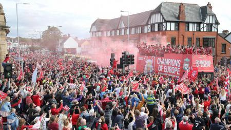 Parade juara Liga Champions Liverpool, Minggu (02/06/19). - INDOSPORT