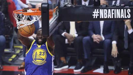 Pebasket Golden State Warriors, Draymond Green dalam pertandingan Final NBA di Scotiabank Arena di Toronto, (02/06/2019). Foto: Steve Russell/Toronto Star via Getty Images - INDOSPORT