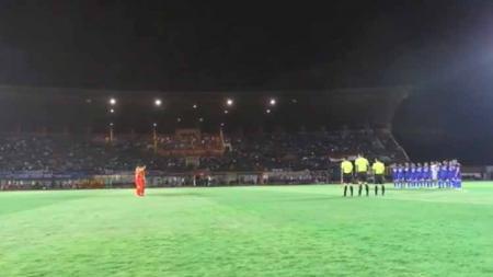 Laga Timnas Indonesia U-23 vs PSIM Yogyakarta di Stadion Sultan Agung, Bantul, Minggu (2/6/19). Foto: vidio.com - INDOSPORT