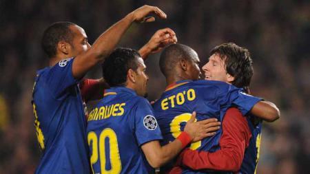 Thierry Henry menjadi satu-satunya legenda raksasa LaLiga Spanyol, Barcelona, yang tak bisa ditatap oleh Lionel Messi karena kalah hebat. - INDOSPORT