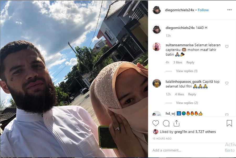 Momen Diego Michiels Rayakan Idul Fitri bersama Kekasihnya Copyright: instagram.com/diegomichiels24x