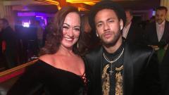 Indosport - Nadine Goncalves, ibu  Neymar Jr, kabarnya balikan dengan Tiago Ramos.