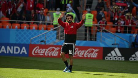 Bintang Liverpool, Mohamed Salah, dipastikan absen membela Timnas Mesir lantaran kondisinya yang kurang fit. Ahmed Ramadan/picture alliance via Getty Images. - INDOSPORT
