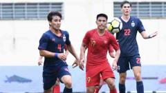 Indosport - Thailand mengalahkan Timnas Indonesia U-23 dengan skor 2-1 di Merlion Cup 2019.