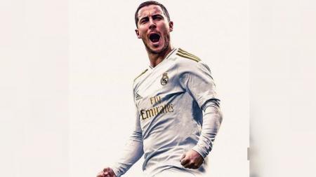 Eden Hazard kabarnya meminta Real Madrid untuk memperjuangkan perekrutan pemain Chelsea, N'Golo Kante, pada bursa transfer Januari 2020. - INDOSPORT