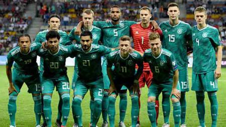 Skuat Timnas Jerman di Kualifikasi Euro 2020 saat melawan Belarusia, Minggu (09-06-19). - INDOSPORT