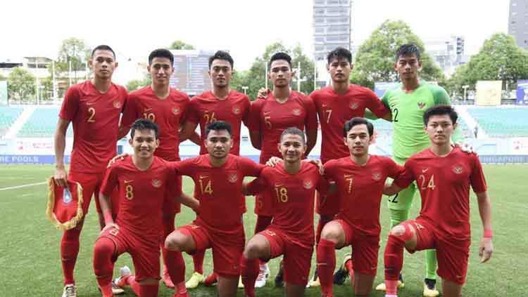 Timnas Indonesia U-23 berhasil meraih gelar juara tiga Merlion Cup 2019. Copyright: Fox Sports Asia