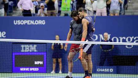 Laga final Prancis Terbuka 2019 yang menghadirkan Rafael Nadal vs Dominic Thiem. Steven Ryan/Getty Images. - INDOSPORT