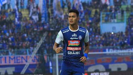 Pemain muda Arema FC, Muhammad Rafli tampil gemilang di laga Timnas Indonesia U-23 vs Filipina dalam Merlion Cup 2019 dengan mencetak tiga gol. - INDOSPORT