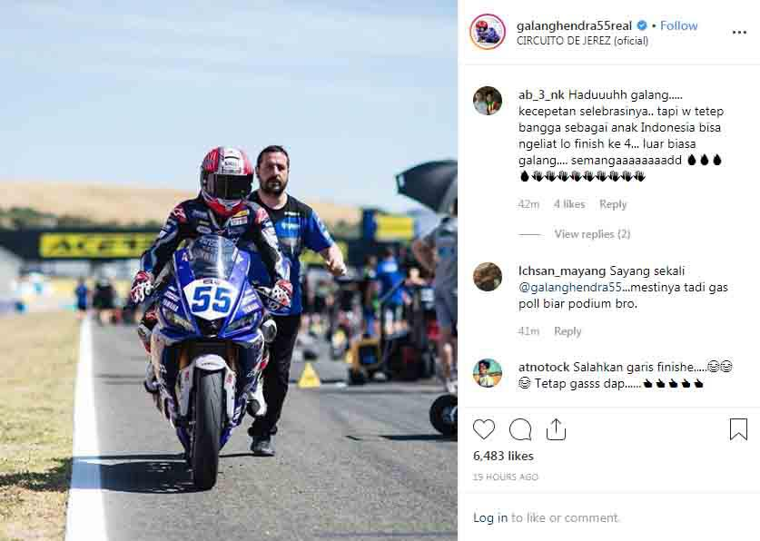 Galang Hendra Pratama mendapat komentar positif dari penggemarnya. Copyright: Instagram Galang Hendra Pratama