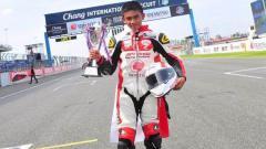 Indosport - Mario Suryo Aji bagikan pengalamannya membalap di level Eropa.