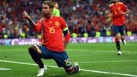 Dapat reaksi luar biasa usai pecahkan rekor di pertandingan Kualifikasi Euro 2020 melawan Malta, Sergio Ramos angkat bicara. David Ramos/Getty Images. - INDOSPORT