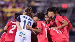 Indosport - Timnas Wanita Thailand berlaga di Piala Dunia Wanita 2019.